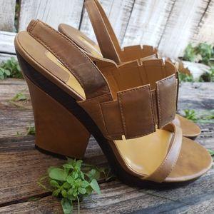 Max Studio Barbara Leather c17/8157 Heel Sandal